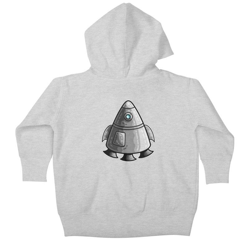 Space Capsule Kids Baby Zip-Up Hoody by Flaming Imp's Artist Shop