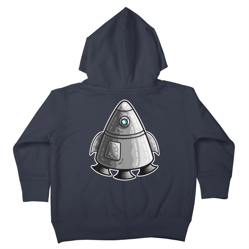 Space Capsule Kids Toddler Zip-Up Hoody by Flaming Imp's Artist Shop