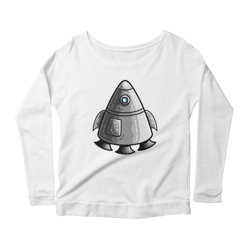 Space Capsule Women's Scoop Neck Longsleeve T-Shirt by Flaming Imp's Artist Shop