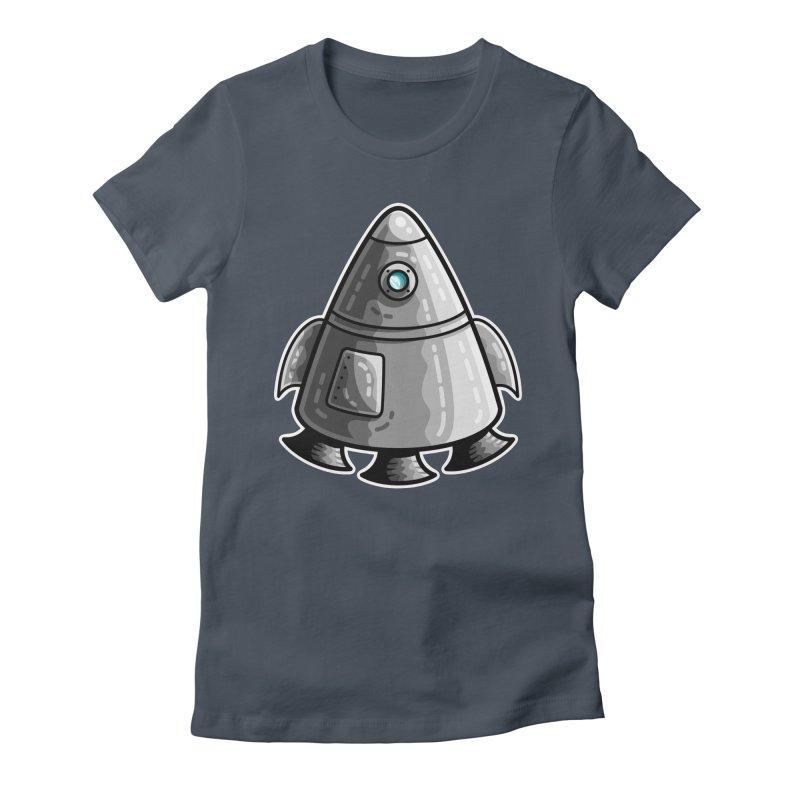 Space Capsule Women's T-Shirt by Flaming Imp's Artist Shop