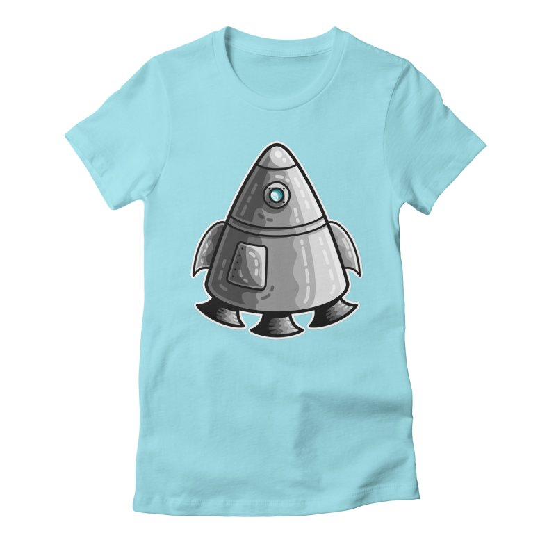 Space Capsule Women's Fitted T-Shirt by Flaming Imp's Artist Shop