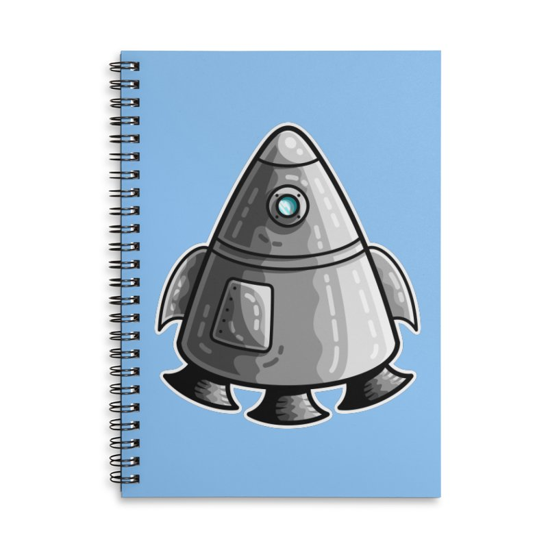 Space Capsule Accessories Lined Spiral Notebook by Flaming Imp's Artist Shop