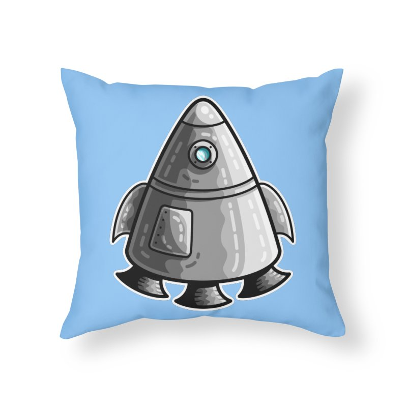 Space Capsule Home Throw Pillow by Flaming Imp's Artist Shop