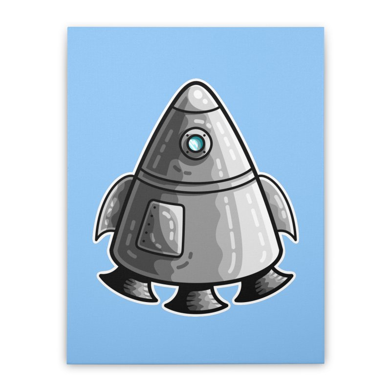 Space Capsule Home Stretched Canvas by Flaming Imp's Artist Shop