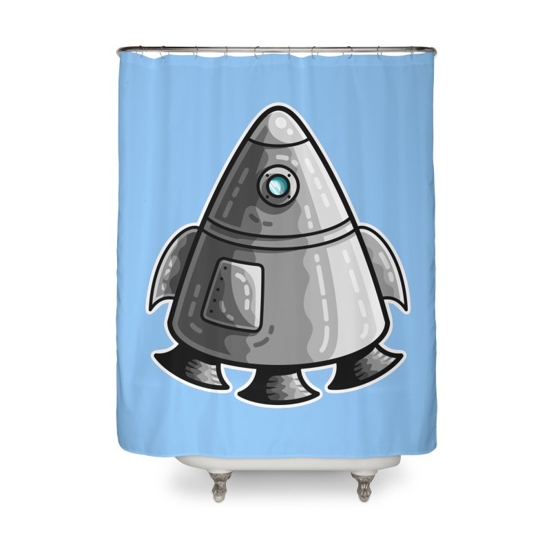 Space Capsule Home Shower Curtain by Flaming Imp's Artist Shop