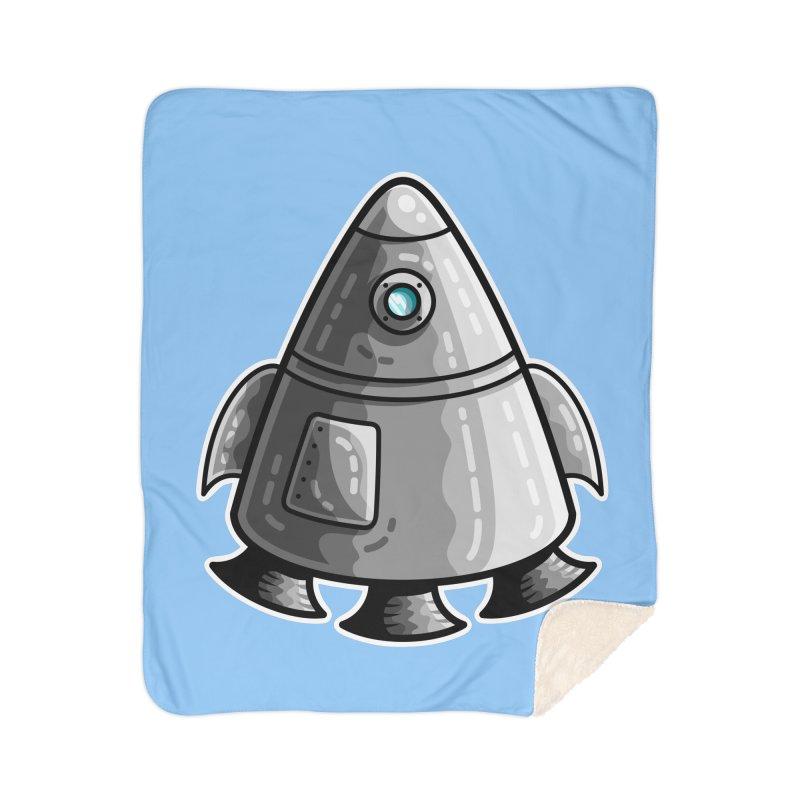 Space Capsule Home Sherpa Blanket Blanket by Flaming Imp's Artist Shop