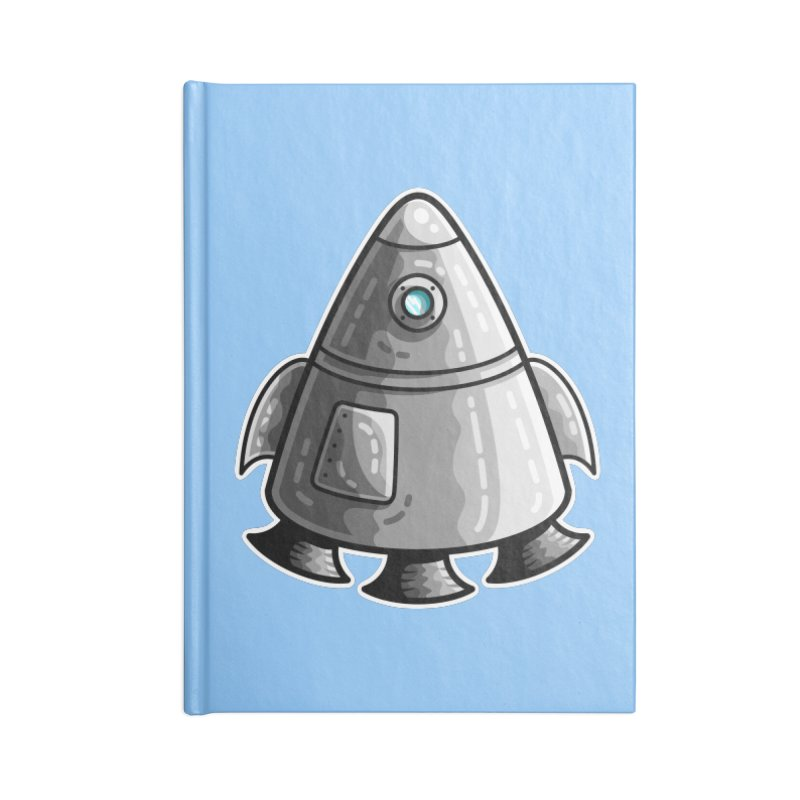 Space Capsule Accessories Lined Journal Notebook by Flaming Imp's Artist Shop