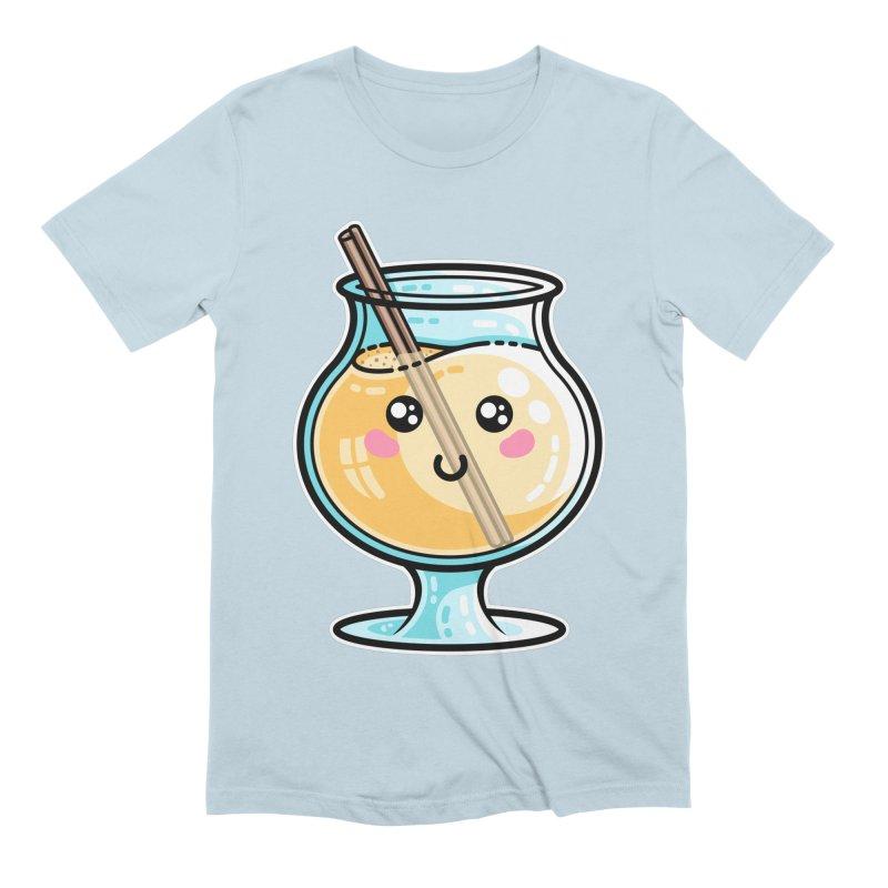 Kawaii Cute Eggnog Men's T-Shirt by Flaming Imp's Artist Shop