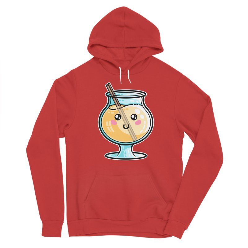 Kawaii Cute Eggnog Fitted Pullover Hoody by Flaming Imp's Artist Shop