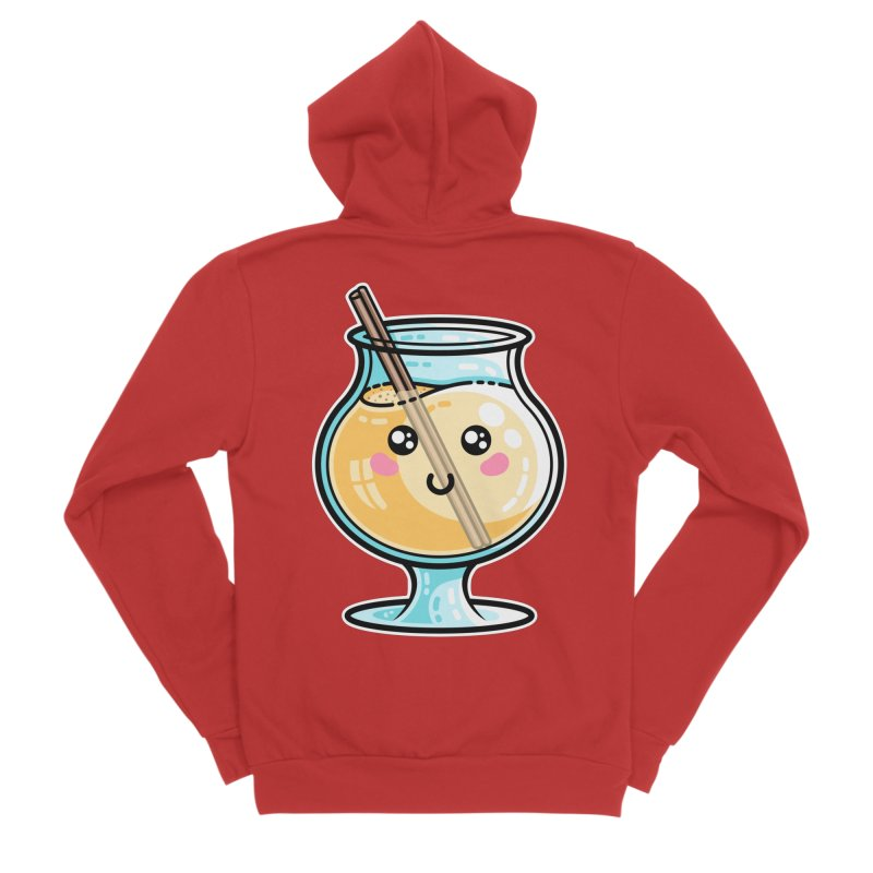 Kawaii Cute Eggnog Women's Zip-Up Hoody by Flaming Imp's Artist Shop