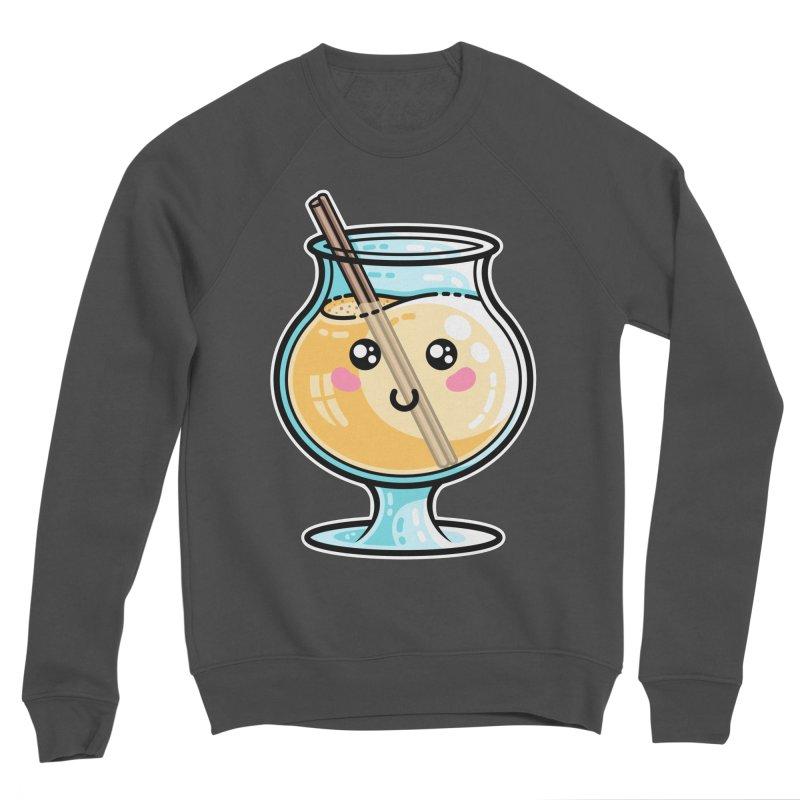 Kawaii Cute Eggnog Men's Sponge Fleece Sweatshirt by Flaming Imp's Artist Shop