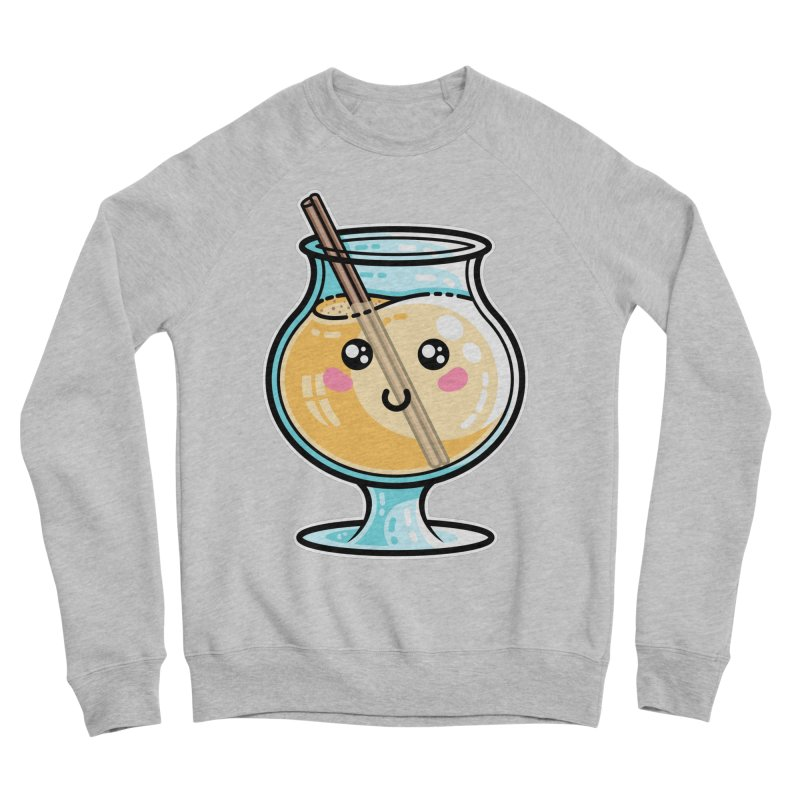 Kawaii Cute Eggnog Women's Sponge Fleece Sweatshirt by Flaming Imp's Artist Shop