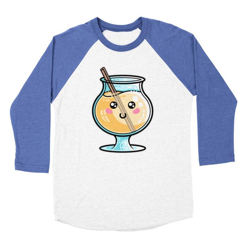 Kawaii Cute Eggnog Women's Longsleeve T-Shirt by Flaming Imp's Artist Shop