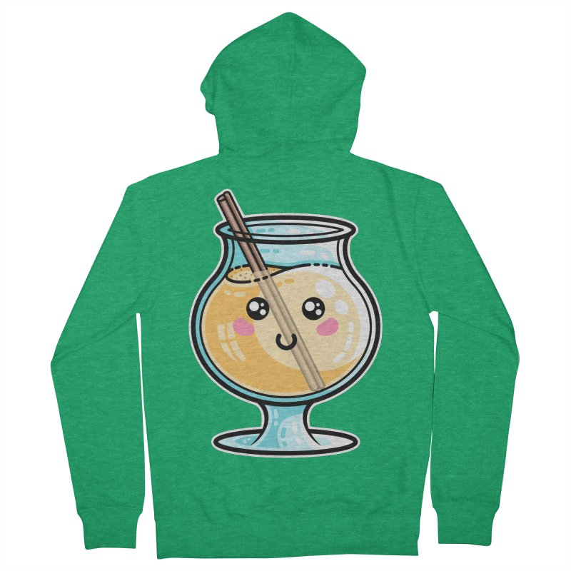 Kawaii Cute Eggnog Men's Zip-Up Hoody by Flaming Imp's Artist Shop