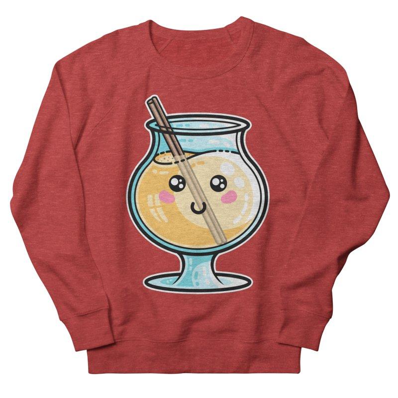 Kawaii Cute Eggnog Men's French Terry Sweatshirt by Flaming Imp's Artist Shop