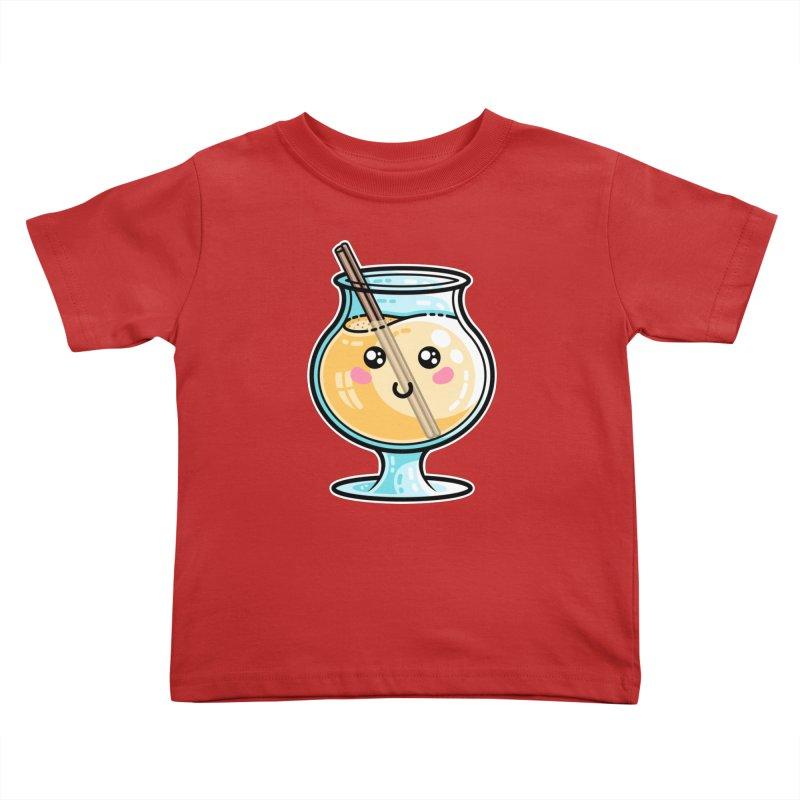 Kawaii Cute Eggnog Kids Toddler T-Shirt by Flaming Imp's Artist Shop