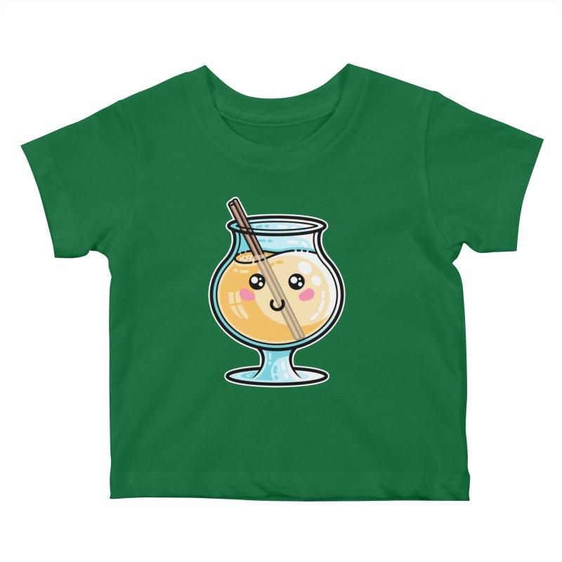 Kawaii Cute Eggnog Kids Baby T-Shirt by Flaming Imp's Artist Shop