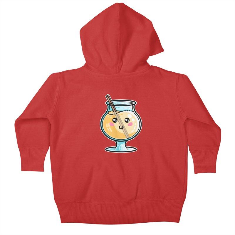 Kawaii Cute Eggnog Kids Baby Zip-Up Hoody by Flaming Imp's Artist Shop