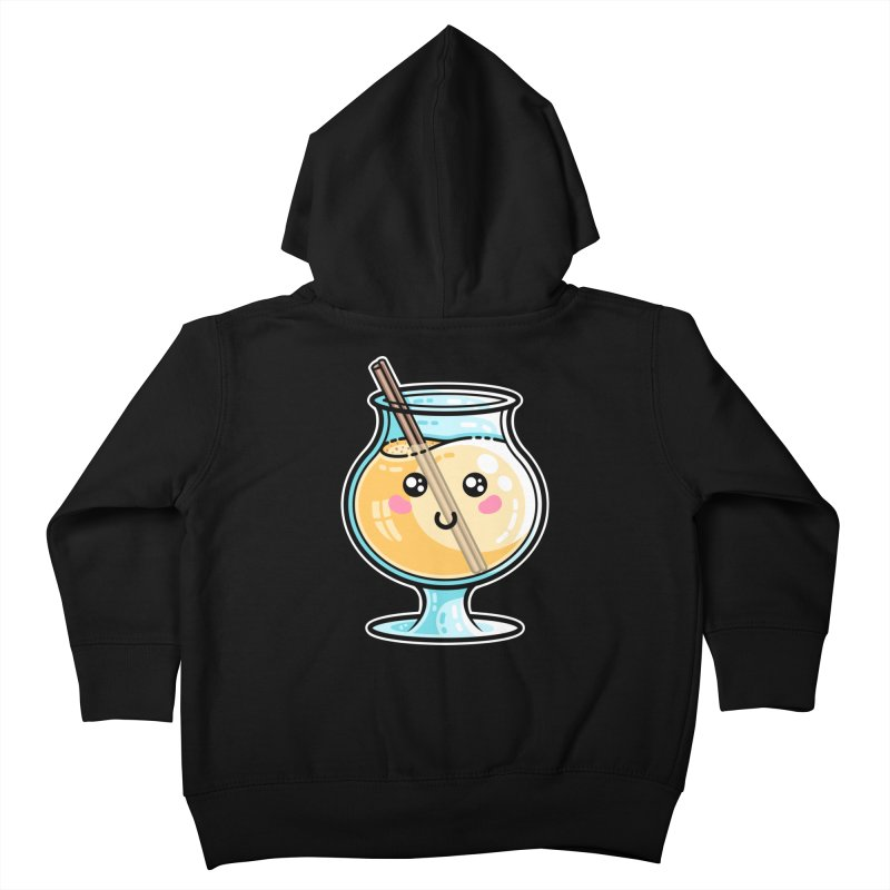 Kawaii Cute Eggnog Kids Toddler Zip-Up Hoody by Flaming Imp's Artist Shop