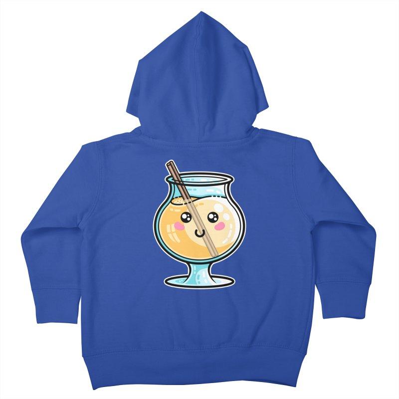 Kawaii Cute Eggnog Kids Toddler Zip-Up Hoody by Flaming Imp's Artist Shop
