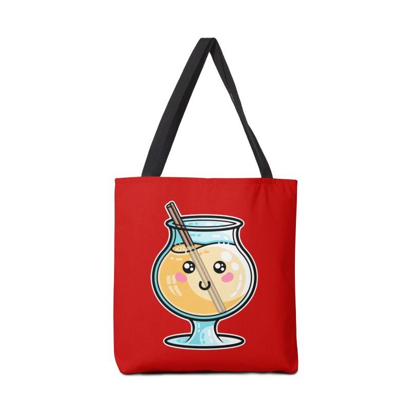 Kawaii Cute Eggnog Accessories Tote Bag Bag by Flaming Imp's Artist Shop