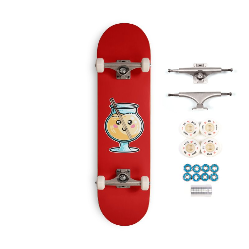 Kawaii Cute Eggnog Accessories Complete - Premium Skateboard by Flaming Imp's Artist Shop