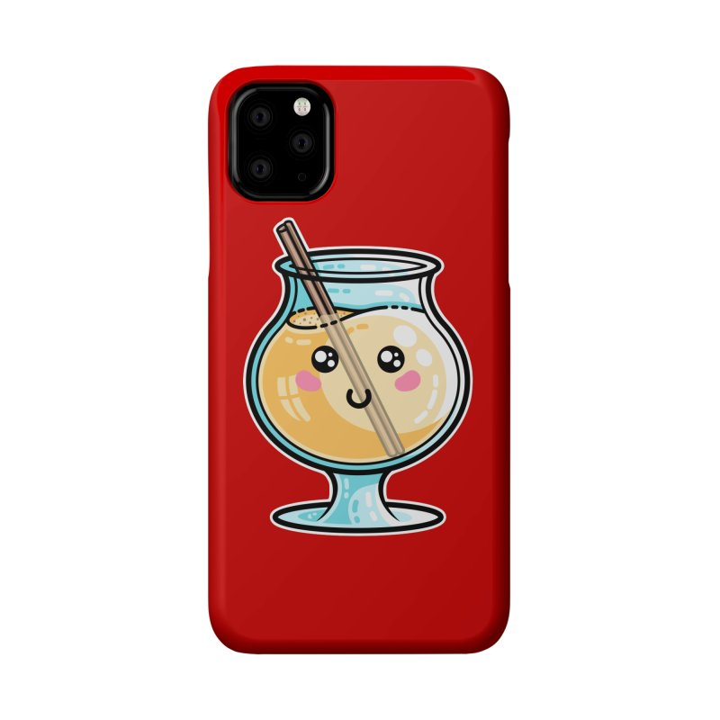 Kawaii Cute Eggnog Accessories Phone Case by Flaming Imp's Artist Shop