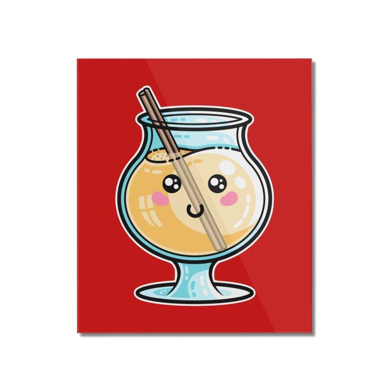 Kawaii Cute Eggnog Home Mounted Acrylic Print by Flaming Imp's Artist Shop