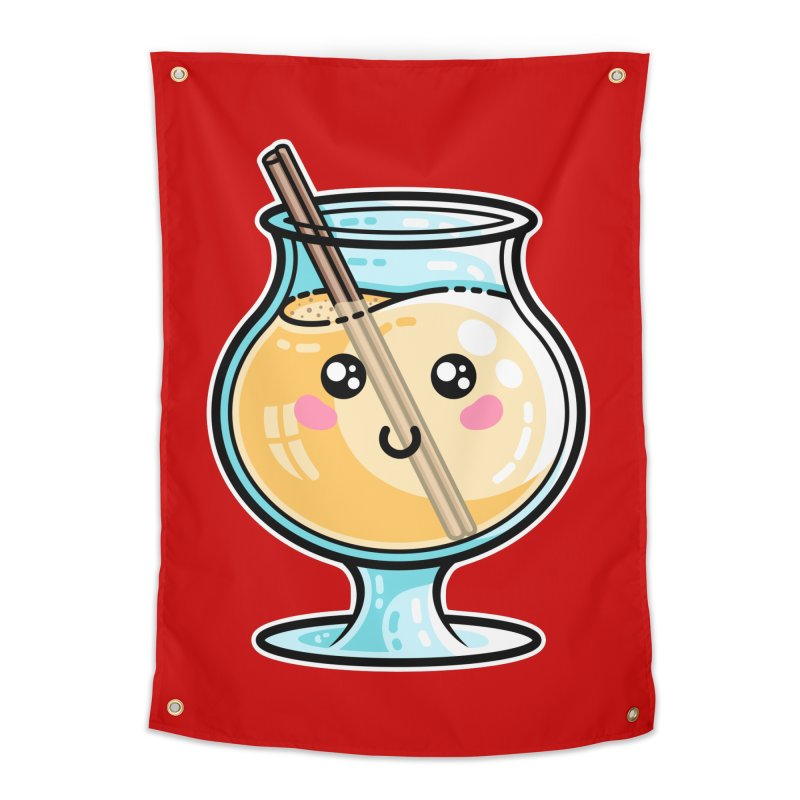 Kawaii Cute Eggnog Home Tapestry by Flaming Imp's Artist Shop