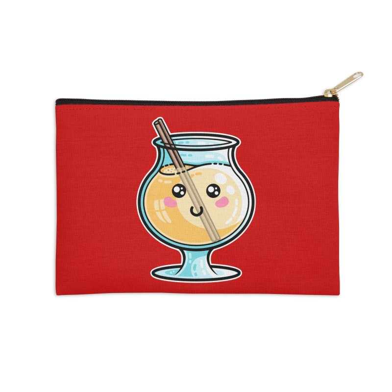 Kawaii Cute Eggnog Accessories Zip Pouch by Flaming Imp's Artist Shop