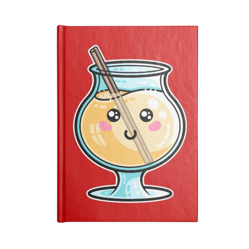Kawaii Cute Eggnog Accessories Lined Journal Notebook by Flaming Imp's Artist Shop