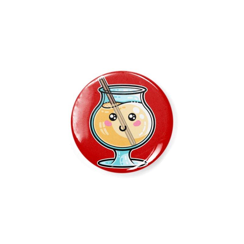 Kawaii Cute Eggnog Masks + Accessories Button by Flaming Imp's Artist Shop