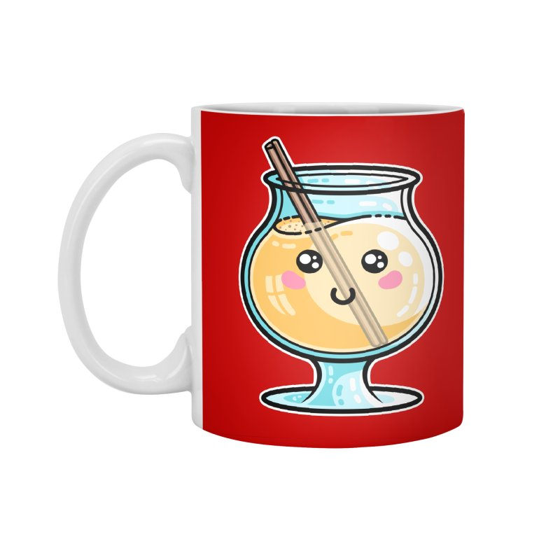 Kawaii Cute Eggnog Accessories Mug by Flaming Imp's Artist Shop