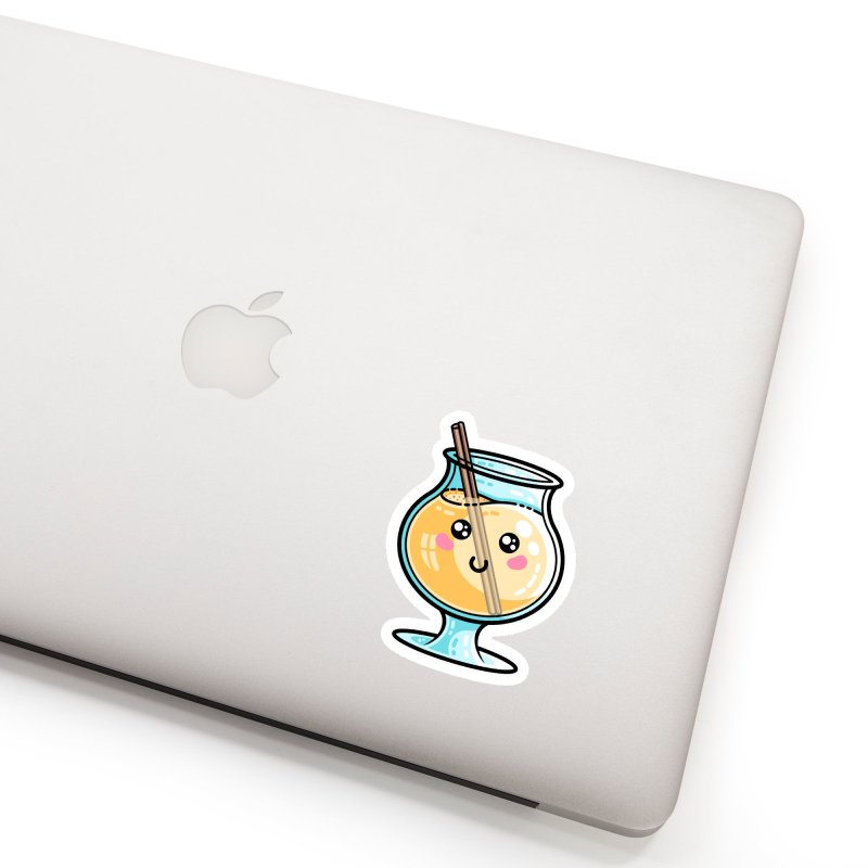 Kawaii Cute Eggnog Accessories Sticker by Flaming Imp's Artist Shop