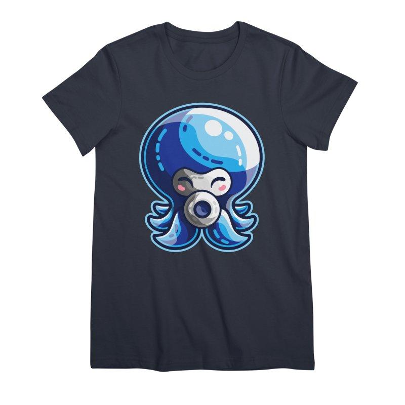 Cute Blue Octorok Women's Premium T-Shirt by Flaming Imp's Artist Shop
