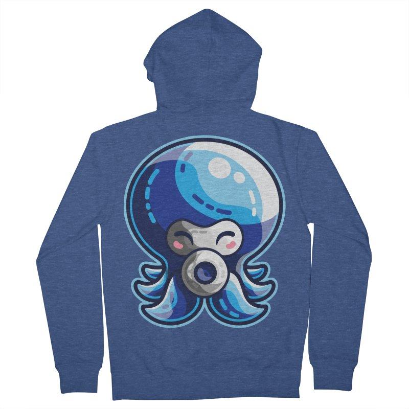 Cute Blue Octorok Women's French Terry Zip-Up Hoody by Flaming Imp's Artist Shop