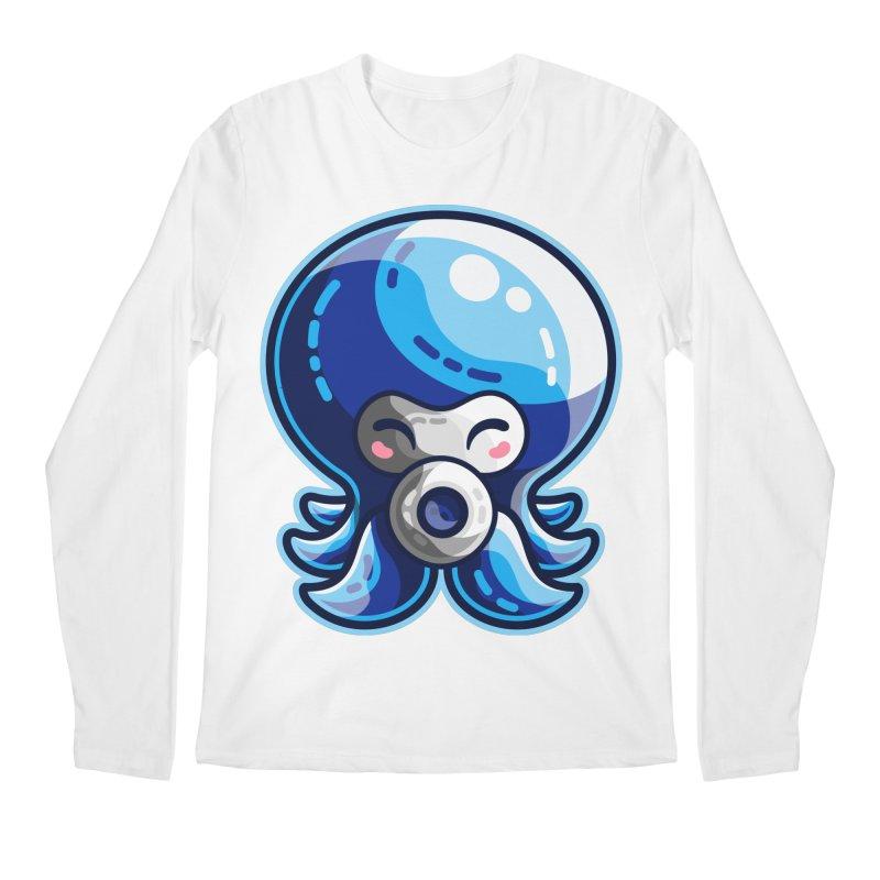 Cute Blue Octorok Men's Regular Longsleeve T-Shirt by Flaming Imp's Artist Shop