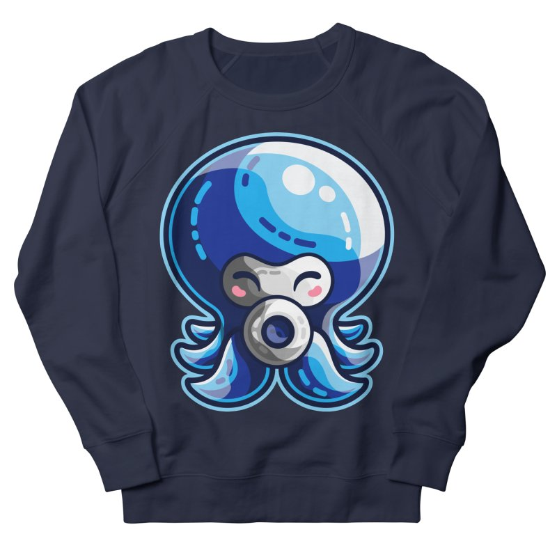 Cute Blue Octorok Women's French Terry Sweatshirt by Flaming Imp's Artist Shop
