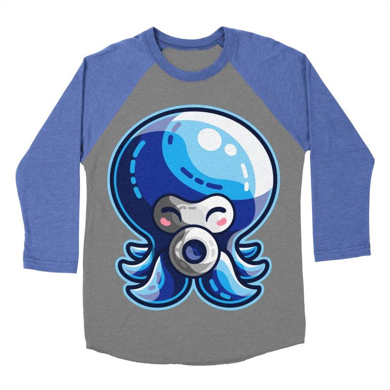 Cute Blue Octorok Men's Baseball Triblend Longsleeve T-Shirt by Flaming Imp's Artist Shop