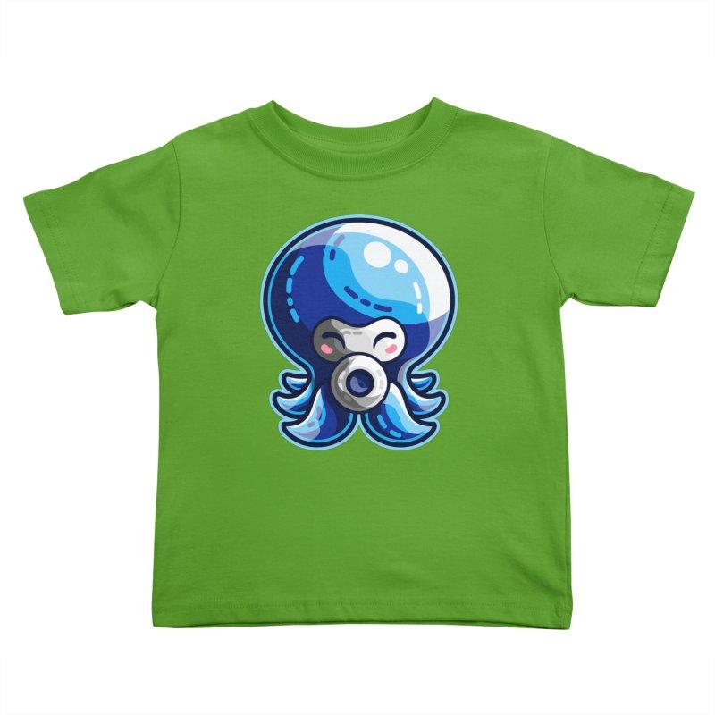 Cute Blue Octorok Kids Toddler T-Shirt by Flaming Imp's Artist Shop