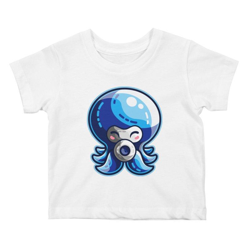 Cute Blue Octorok Kids Baby T-Shirt by Flaming Imp's Artist Shop