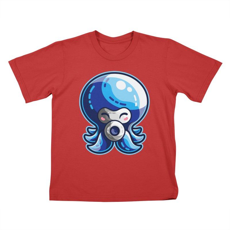Cute Blue Octorok Kids T-Shirt by Flaming Imp's Artist Shop