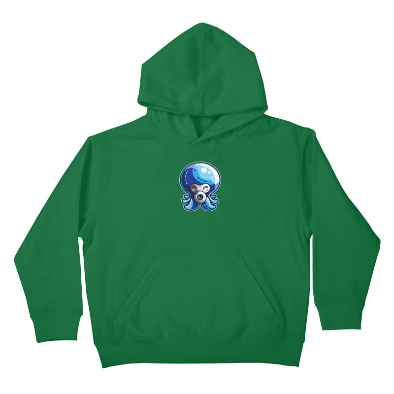 Cute Blue Octorok Kids Pullover Hoody by Flaming Imp's Artist Shop