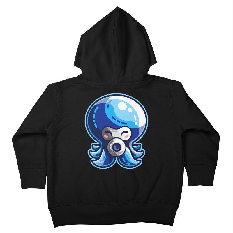 Cute Blue Octorok Kids Toddler Zip-Up Hoody by Flaming Imp's Artist Shop