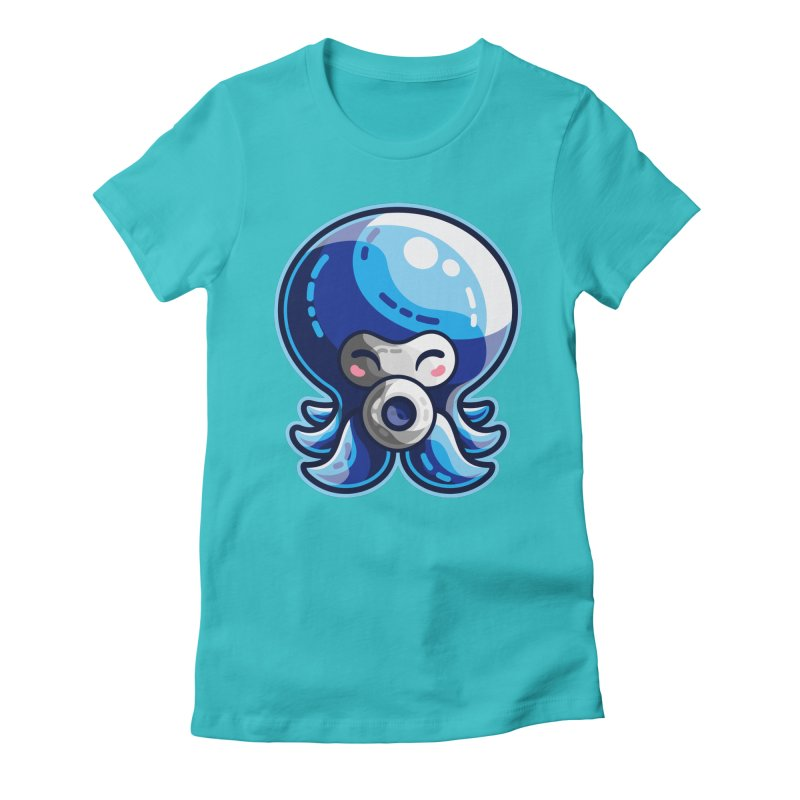 Cute Blue Octorok Women's Fitted T-Shirt by Flaming Imp's Artist Shop
