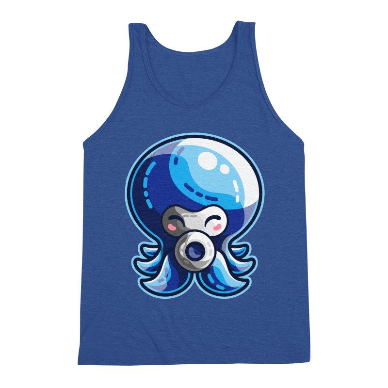 Cute Blue Octorok Men's Triblend Tank by Flaming Imp's Artist Shop