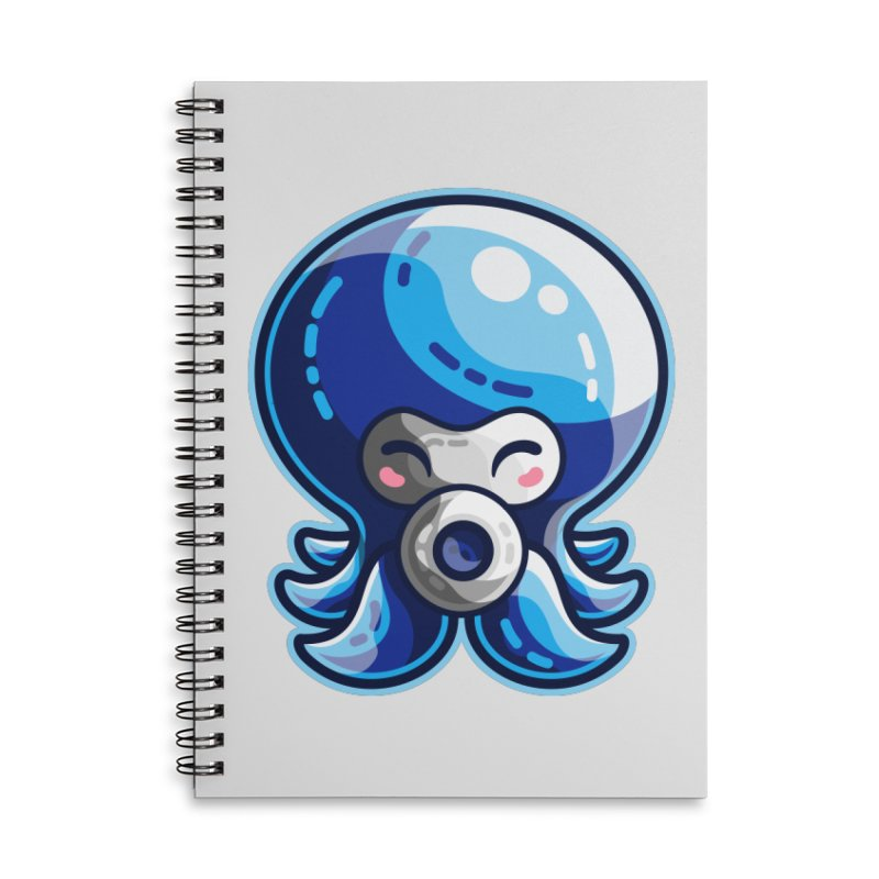Cute Blue Octorok Accessories Lined Spiral Notebook by Flaming Imp's Artist Shop