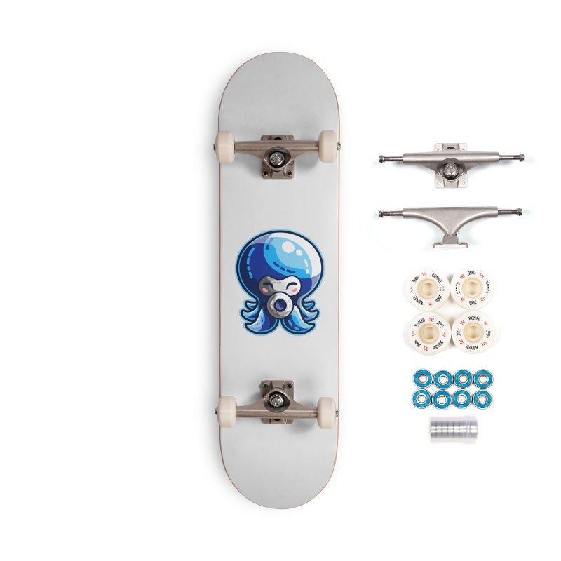 Cute Blue Octorok Accessories Complete - Premium Skateboard by Flaming Imp's Artist Shop