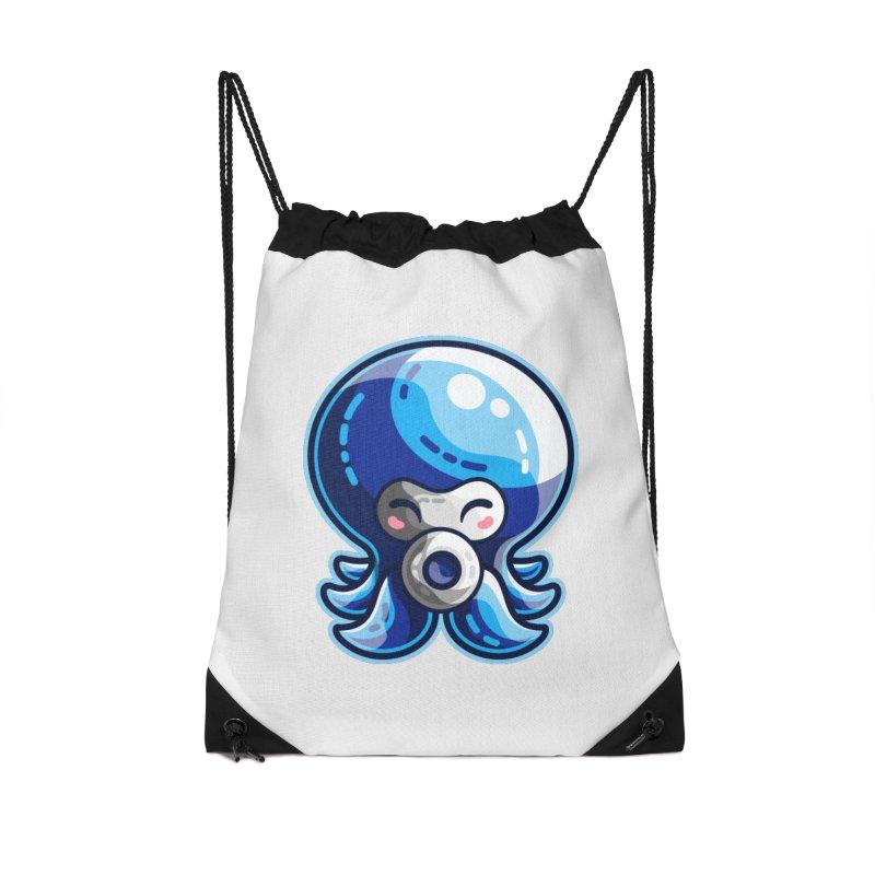 Cute Blue Octorok Accessories Drawstring Bag Bag by Flaming Imp's Artist Shop