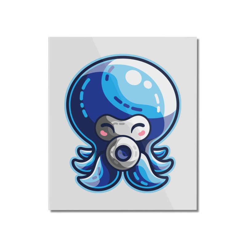 Cute Blue Octorok Home Mounted Acrylic Print by Flaming Imp's Artist Shop
